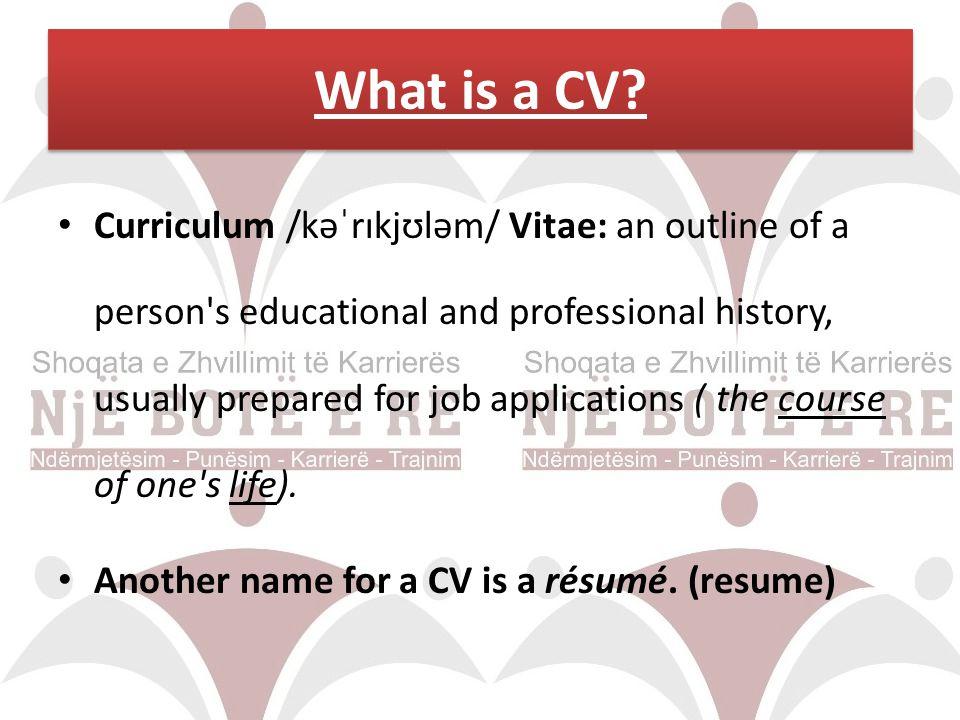 Why CV .Probably the first CV was written by Leonardo Da Vinci 500 years ago.