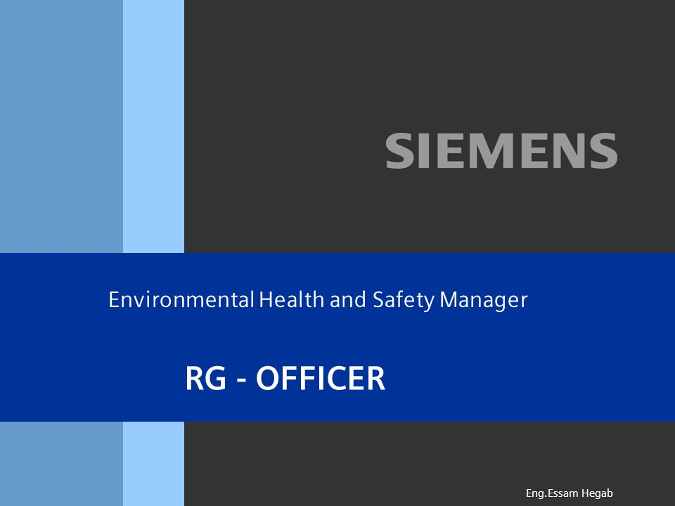 RG - OFFICER Eng.Essam Hegab Environmental Health and Safety Manager