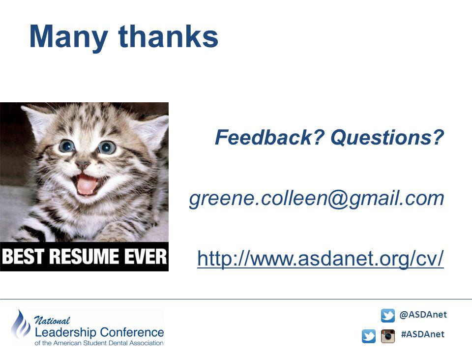 #ASDAnet @ASDAnet Many thanks Feedback. Questions.