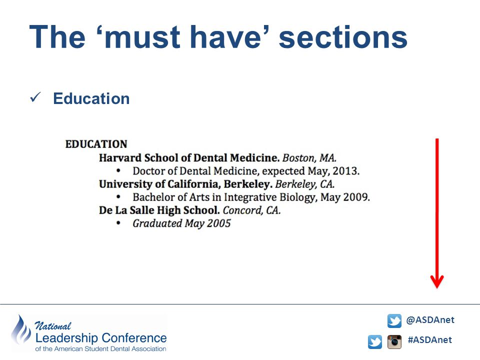 #ASDAnet @ASDAnet The 'must have' sections Education