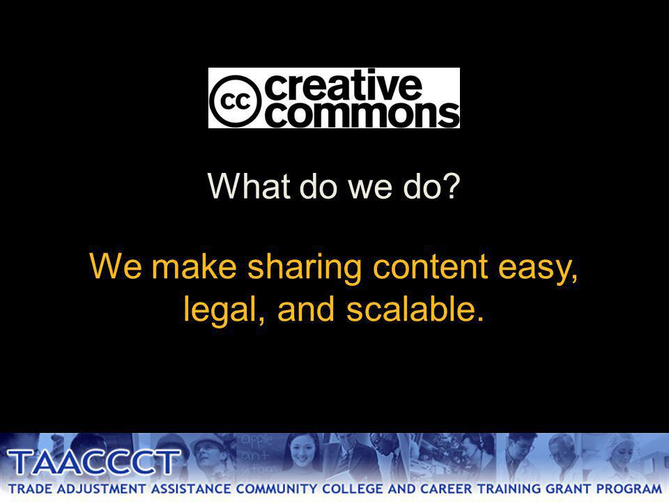 We make sharing content easy, legal, and scalable. What do we do