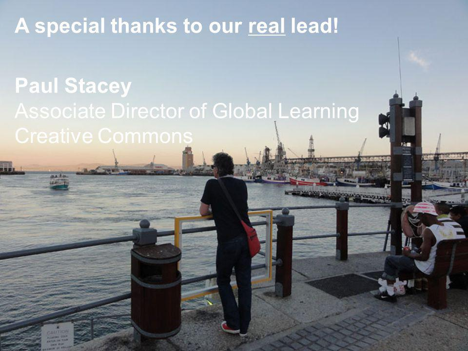 A special thanks to our real lead.