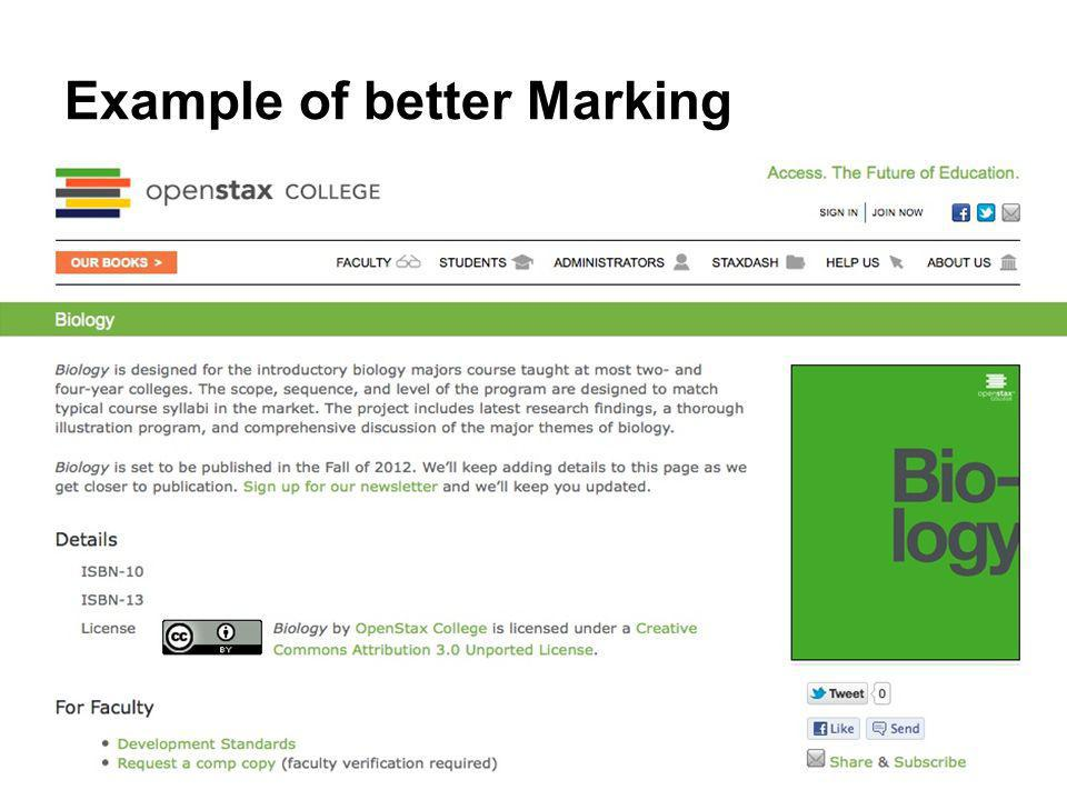 Example of better Marking