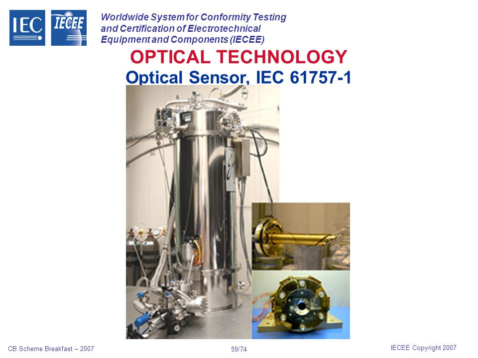 Worldwide System for Conformity Testing and Certification of Electrotechnical Equipment and Components (IECEE) IECEE Copyright 2007 CB Scheme Breakfas