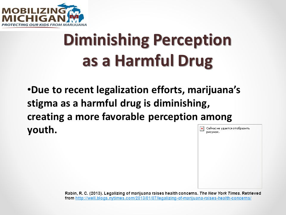 Diminishing Perception as a Harmful Drug Due to recent legalization efforts, marijuana's stigma as a harmful drug is diminishing, creating a more favorable perception among youth.