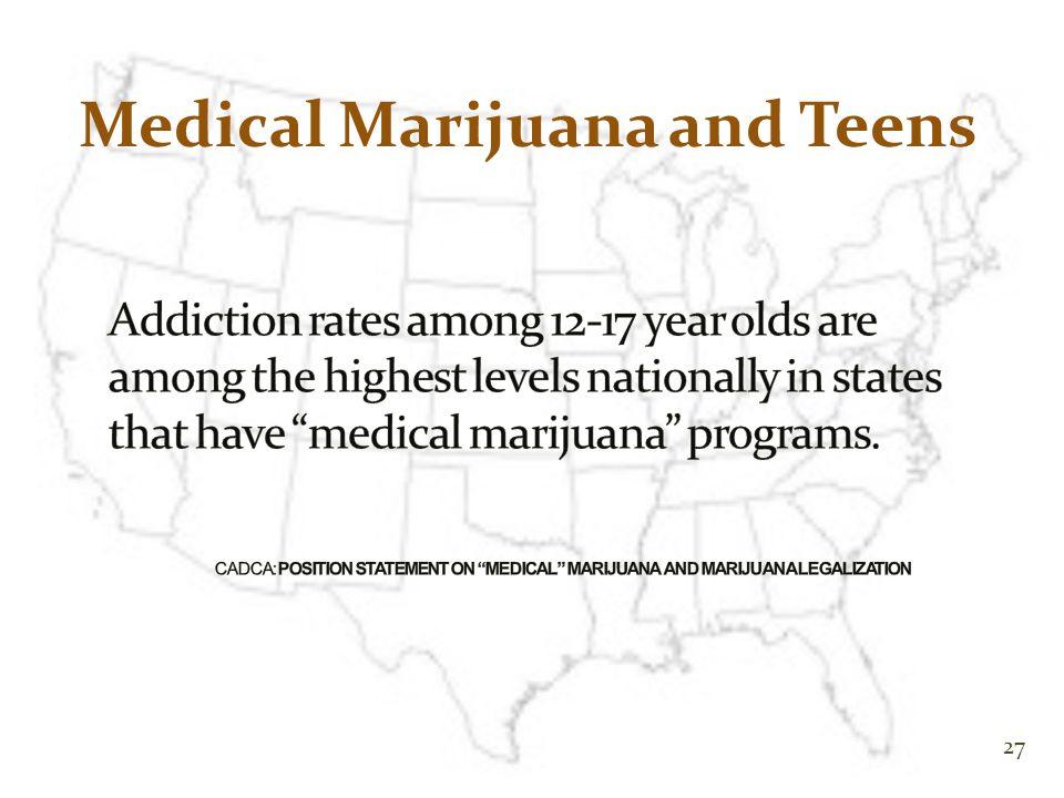 27 Medical Marijuana and Teens