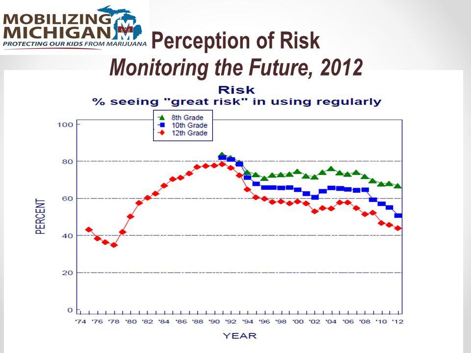 Perception of Risk Monitoring the Future, 2012