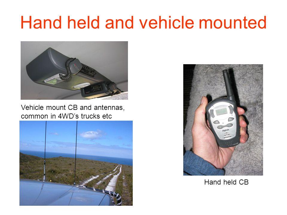 Types of CB Radio in Australia 27 MHZ (HF) – Generally longer range, larger antennas, less features.