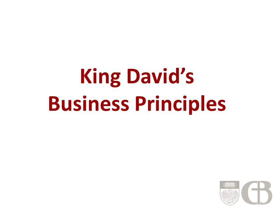 King David's Business Principles