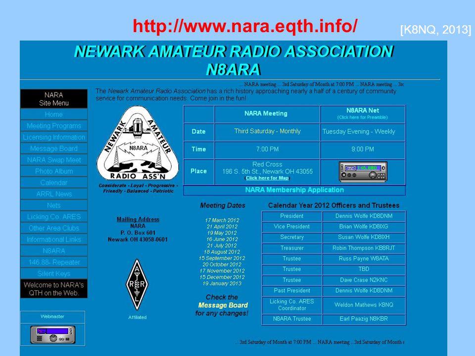 http://www.nara.eqth.info/ [K8NQ, 2013]