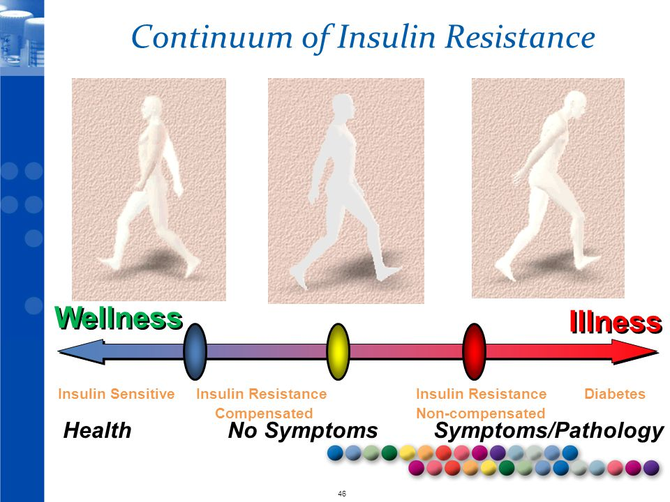 © 2010 46 Continuum of Insulin Resistance Health No Symptoms Symptoms/Pathology Insulin Sensitive Insulin Resistance Insulin Resistance Diabetes Compensated Non-compensated Wellness Illness