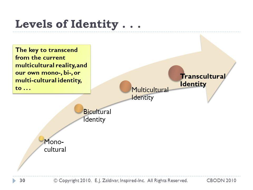 Levels of Identity...