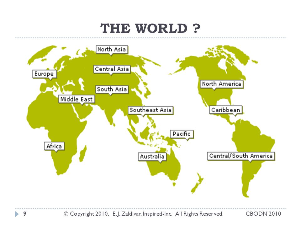THE WORLD ? © Copyright 2010. E. J. Zaldivar, Inspired-Inc. All Rights Reserved.9CBODN 2010