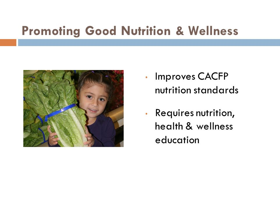 Resources USDA funded to provide nutrition education resources & training ($10 million) Local WIC agencies can share WIC nutrition education materials with CACFP institutions at no cost 5