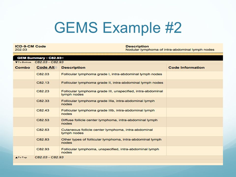 GEMS Example #2