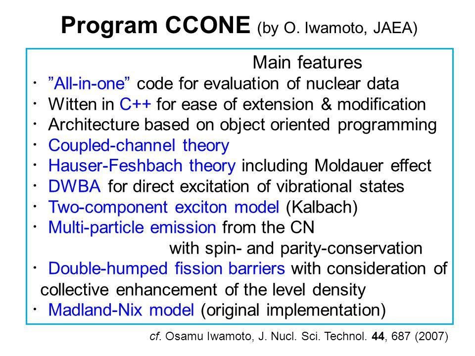 Program CCONE (by O.