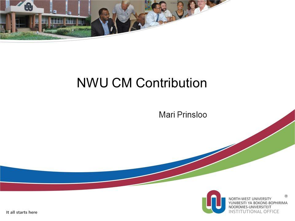 NWU CM Contribution Mari Prinsloo