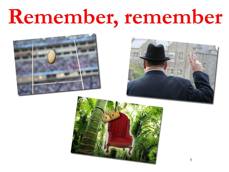 1 Remember, remember