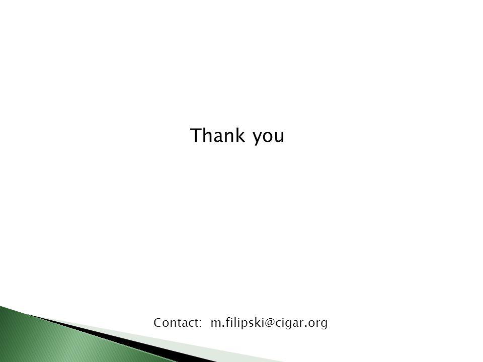 Thank you Contact: m.filipski@cigar.org