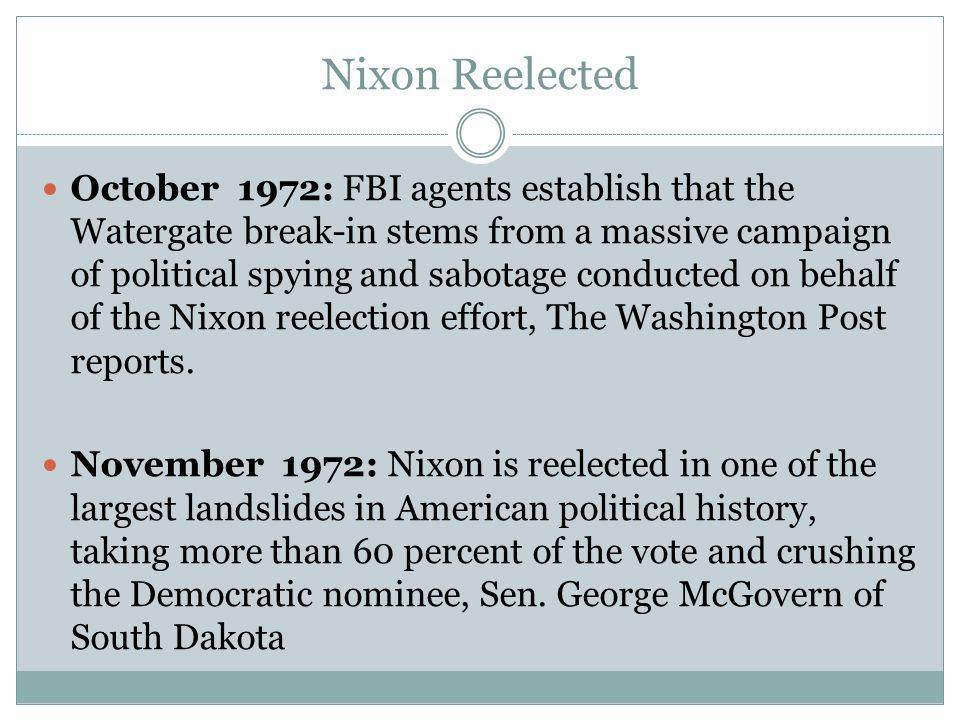 The Case Continues January 1973: Former Nixon aides G.