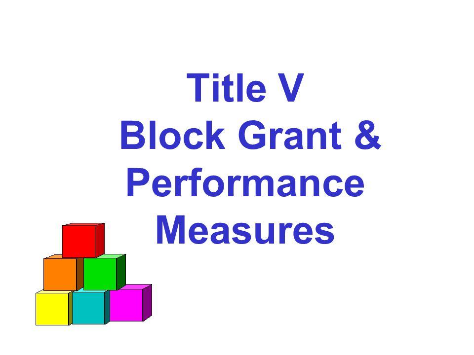Title V Block Grant & Performance Measures