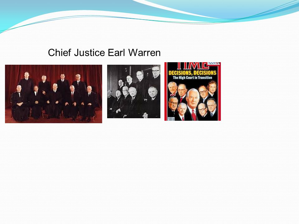 Chief Justice Earl Warren