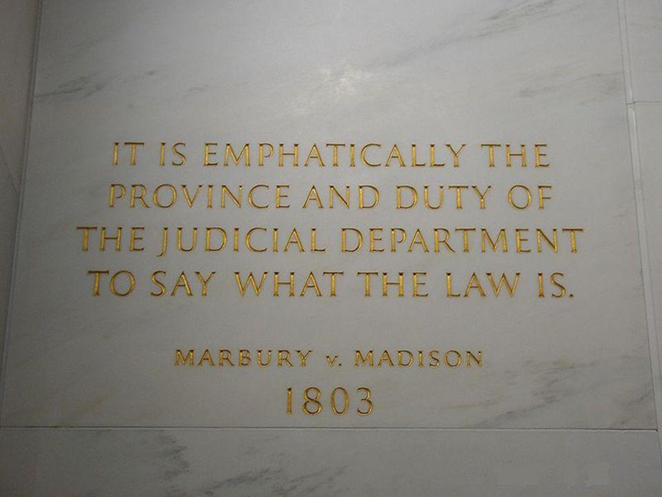  The case of Marbury v.