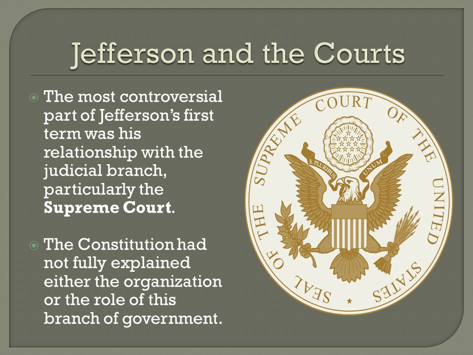  With the Judiciary Act of 1789, Congress had filled in the missing details.