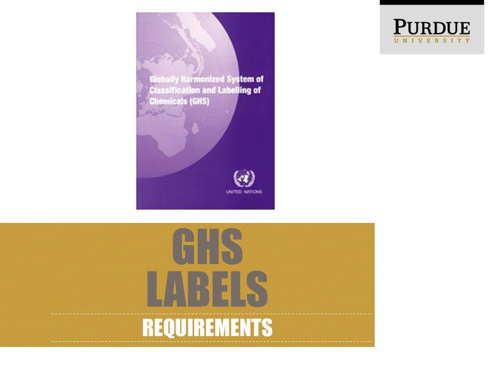GHS LABELS REQUIREMENTS