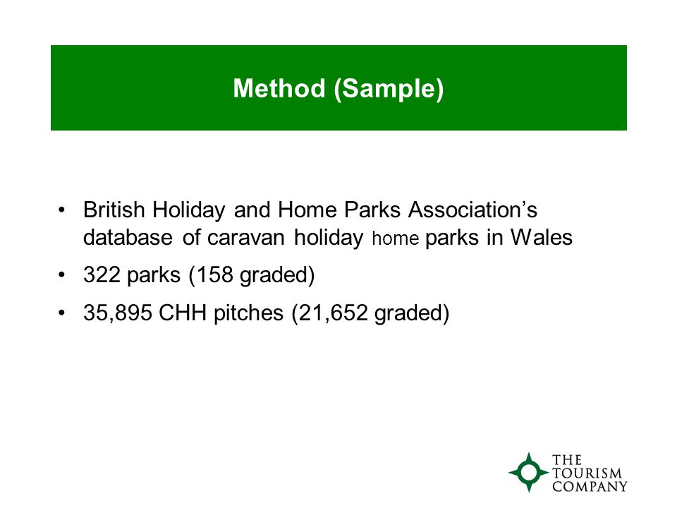 Profile - Renters Younger profile Lower socio-economic groups Dominated by families Caravan holiday taken as main holiday Kids' needs drive park choice Past experience and recommendation are main reason for holiday choice On-park facilities important although sea/beach is a major draw High satisfaction with Welsh parks leads to high repeat business As active as Wales holiday- takers as a whole Overseas destinations are main competitor for long holidays