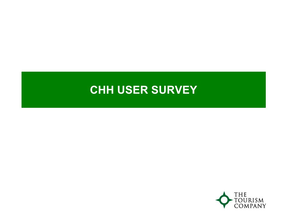 CHH USER SURVEY