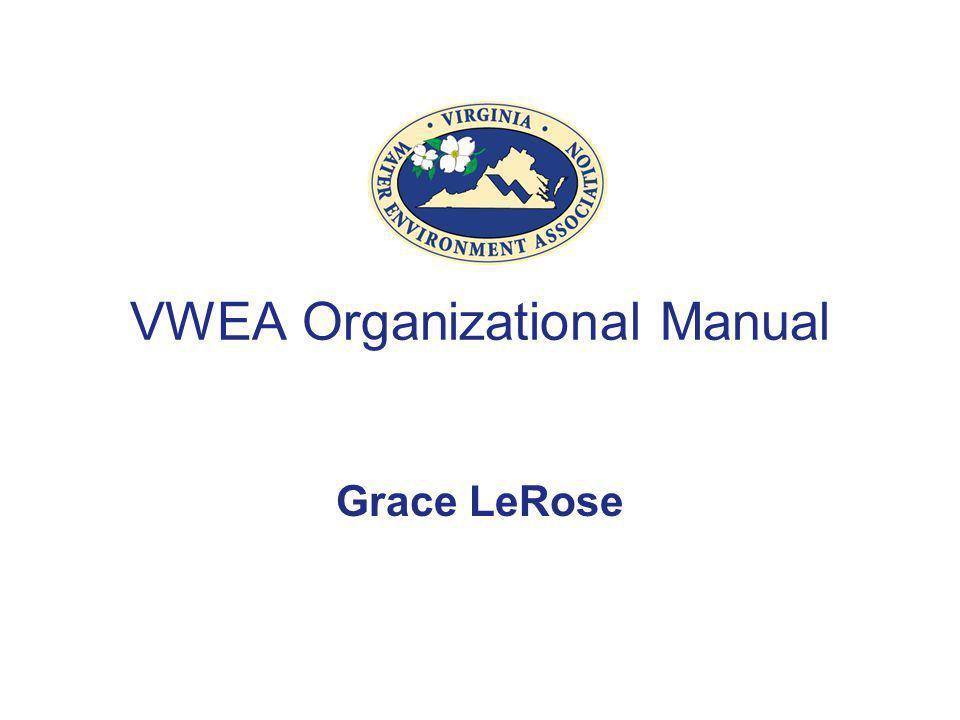 VWEA Organizational Manual Grace LeRose