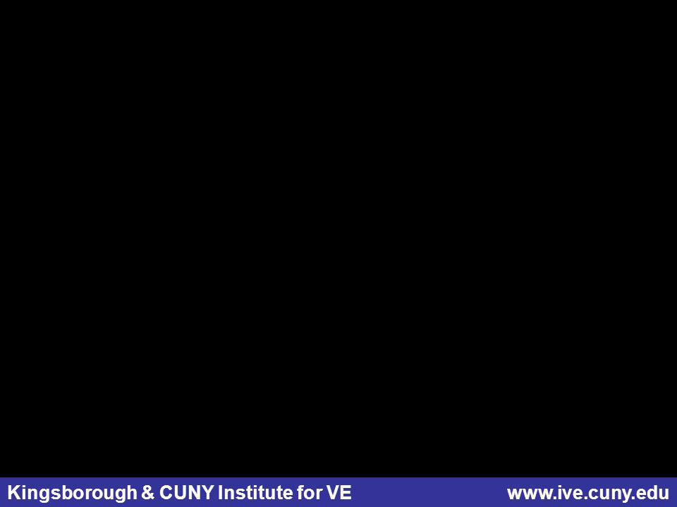 Kingsborough & CUNY Institute for VE www.ive.cuny.edu