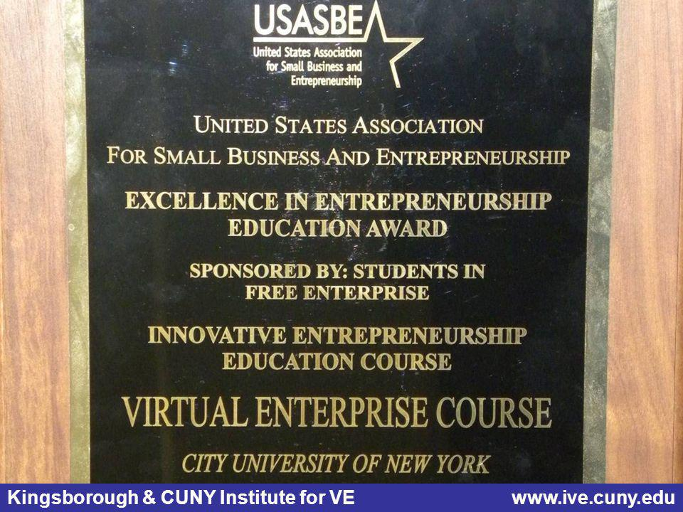 USASBE Curriculum Award What is Virtual Enterprise (VE)?