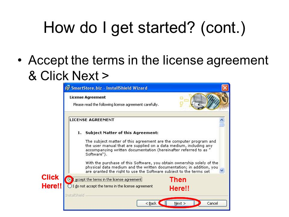How do I get started.(cont.) Fill in your Name & VE Firm & Click Next > Click Here!.