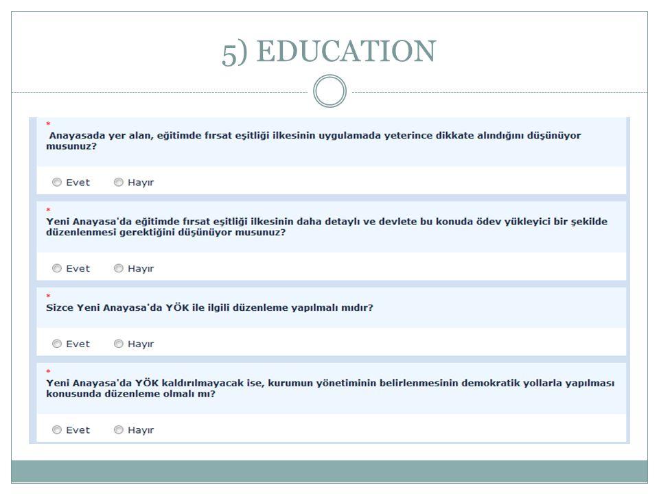 5) EDUCATION