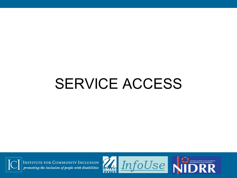 InfoUse SERVICE ACCESS