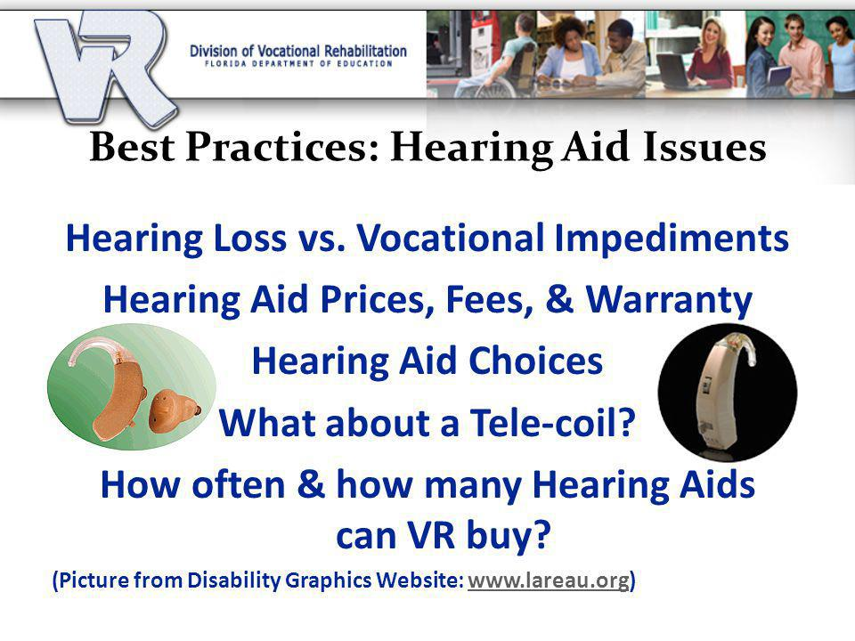Best Practices: Hearing Aid Issues Hearing Loss vs.