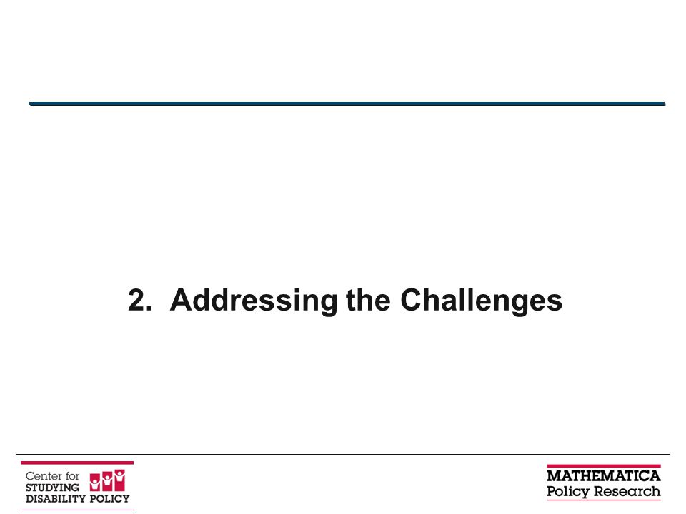 2. Addressing the Challenges