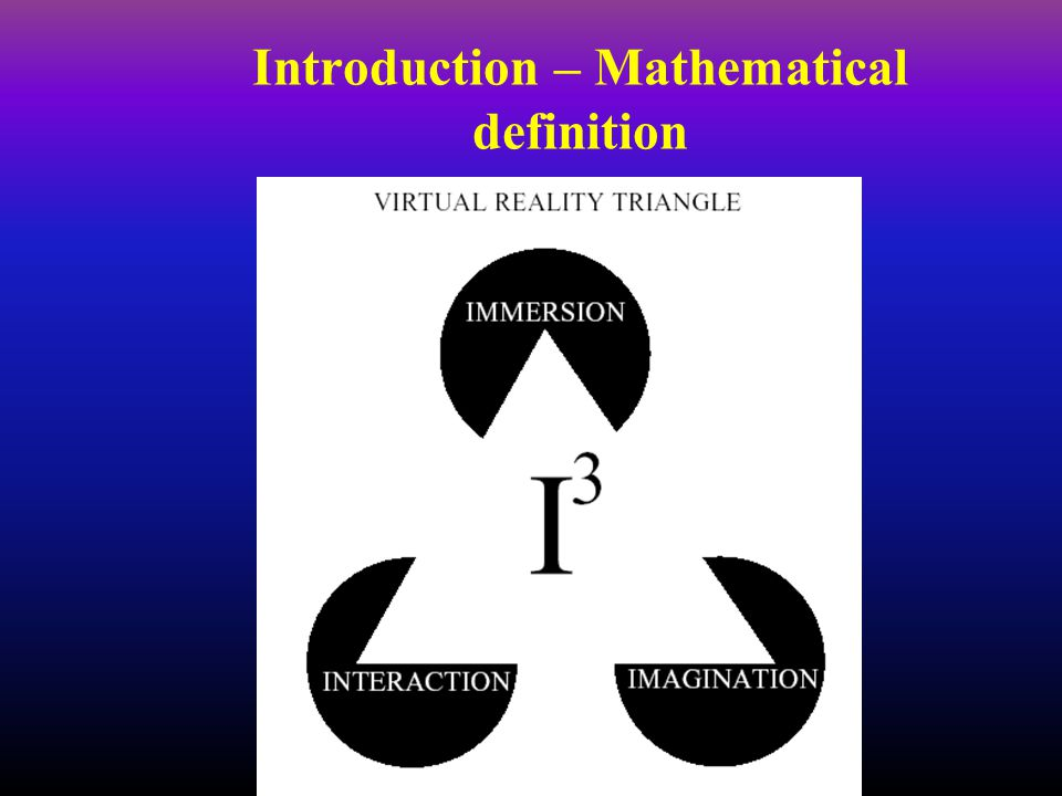 Introduction – Mathematical definition