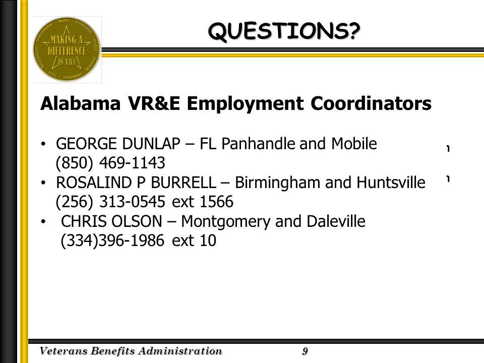 Veterans Benefits Administration 2/23/2005 QUESTIONS.