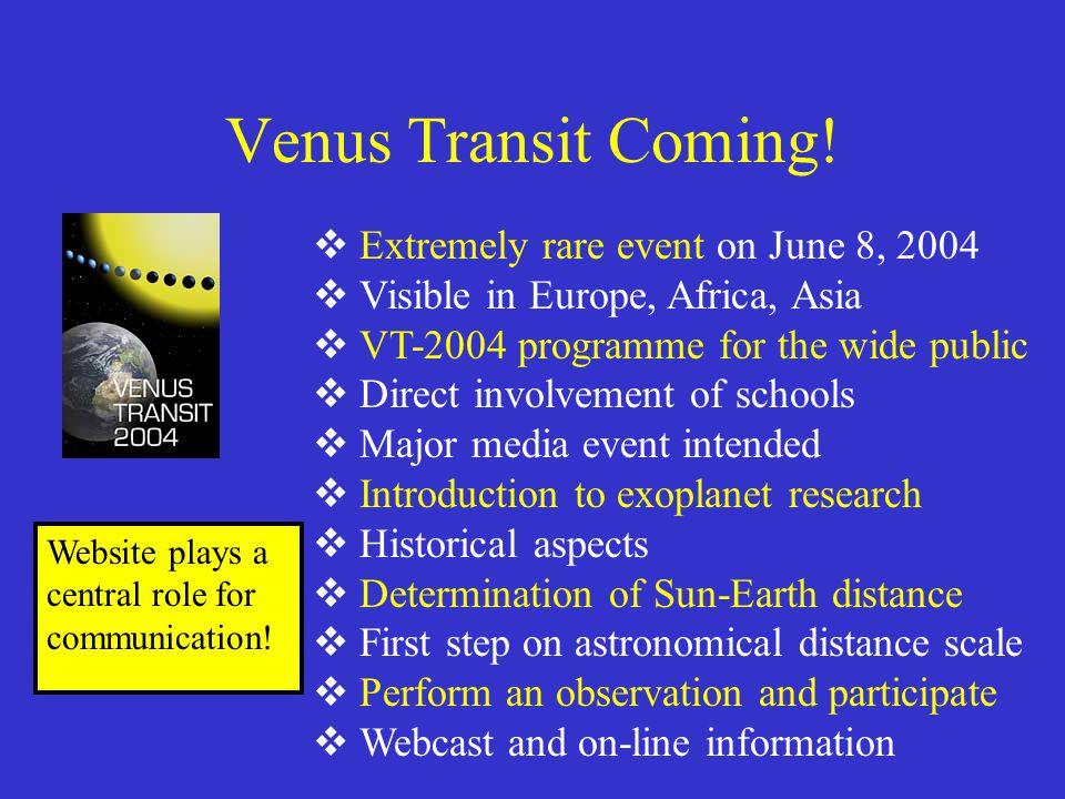 Venus Transit Coming.