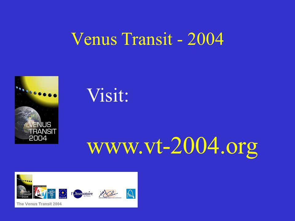Venus Transit - 2004 Visit: www.vt-2004.org