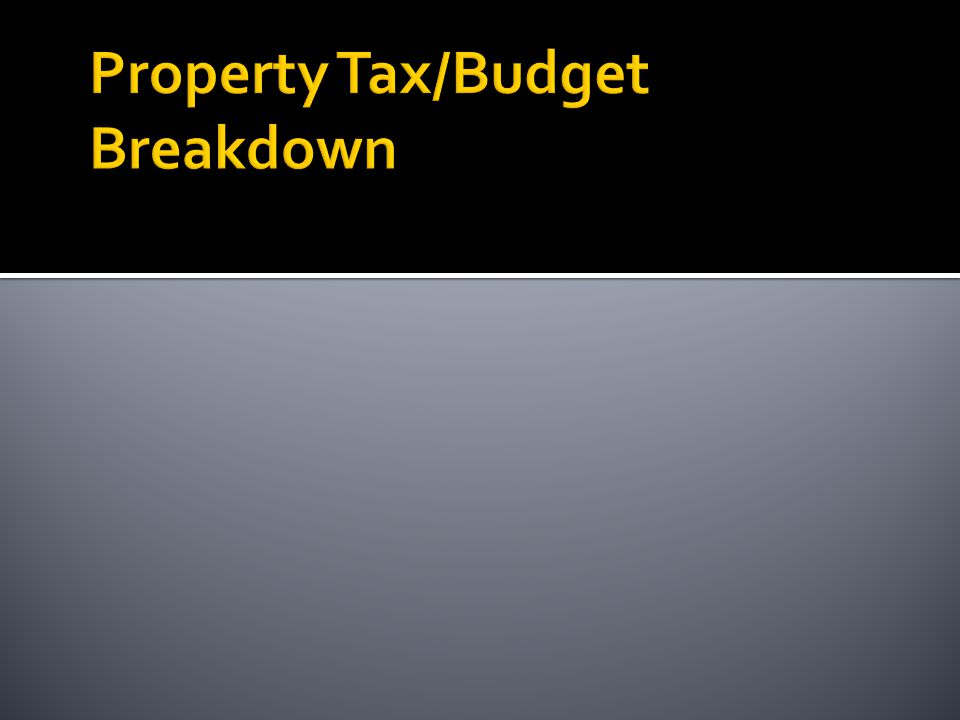 Property Tax Rate Stats  Current (FY12) Overall Tax Rate is $2.32 per $100 of value  Municipal Rate is $0.9219 per $100 of value  Average Residential property is $223,000  Average Residential tax bill is $5,173  Average Municipal tax is $2,056  One Cent on Tax Rate raises $83,000  One Cent on Tax Rate costs $22.30 to average resident.