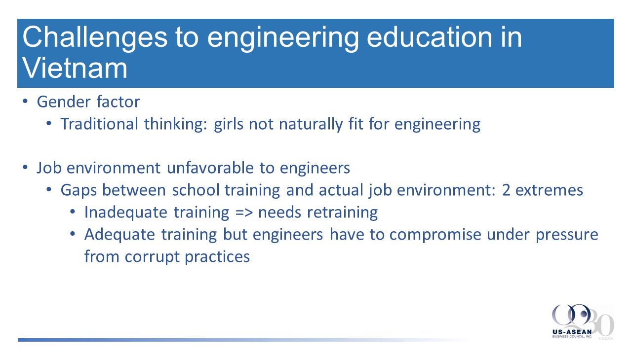 Some suggestions Raise awareness about engineering: communication and outreach efforts Recruiting more girls into engineering by both educating society, including girls themselves, and positive discrimination Better public and corporate policies to protect and incentivize engineers who uphold professional integrity