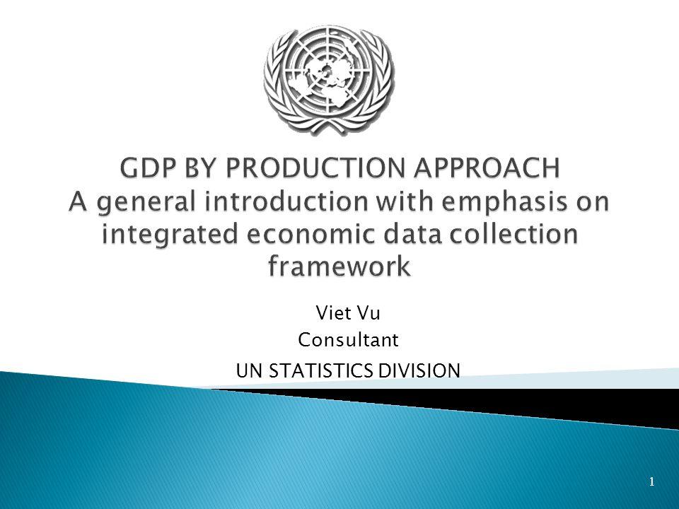 1 Viet Vu Consultant UN STATISTICS DIVISION