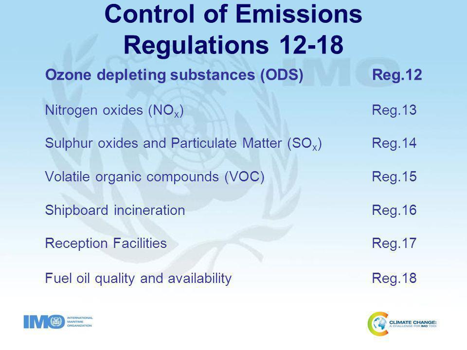 MARPOL Annex VI Regulation 12 Ozone-Depleting Substances