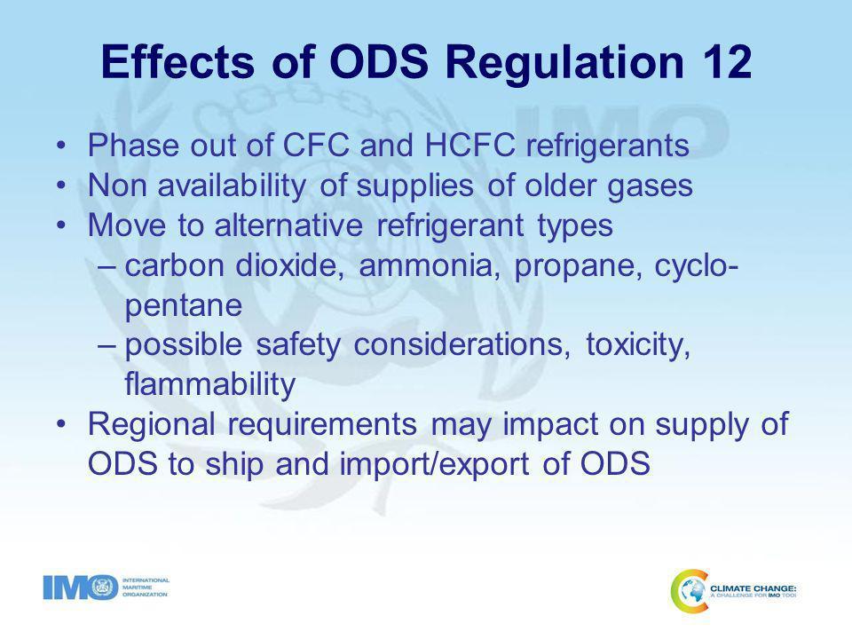 Regional Requirements Supply of ODS to ships –European Union (EU) Regulation (EC) No.