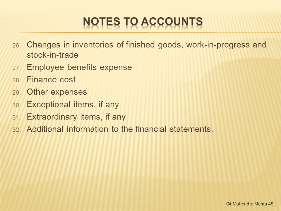 26. Changes in inventories of finished goods, work-in-progress and stock-in-trade 27.