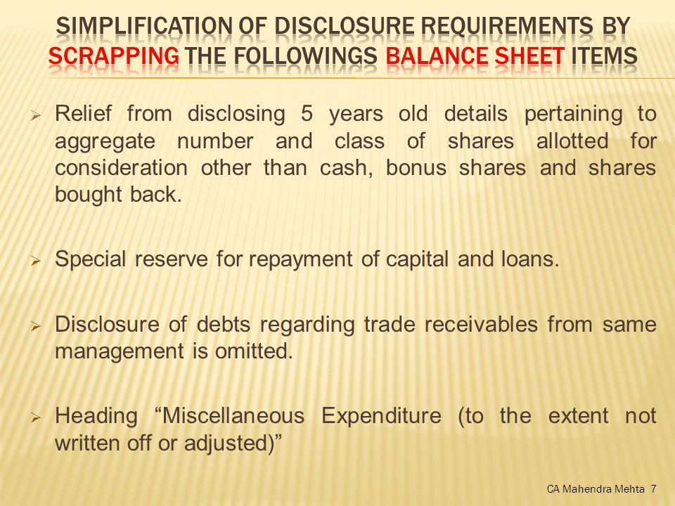  Relief from disclosing 5 years old details pertaining to aggregate number and class of shares allotted for consideration other than cash, bonus shares and shares bought back.